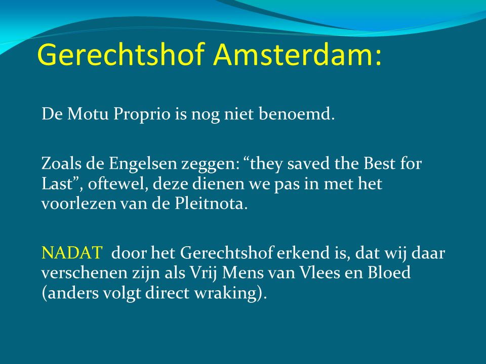 Gerechtshof Amsterdam: