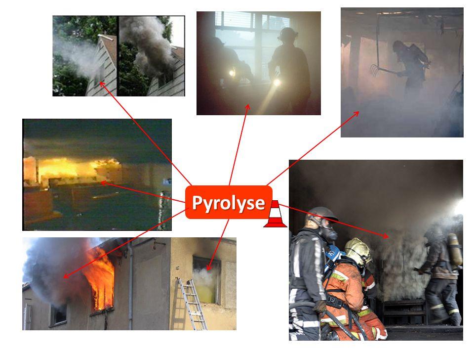 03/04/2017 Pyrolyse. We komen pyrolysegassen tegen op verschillende momenten: 1. Bij het begin van de brand, ontsnappen gassen door openingen.