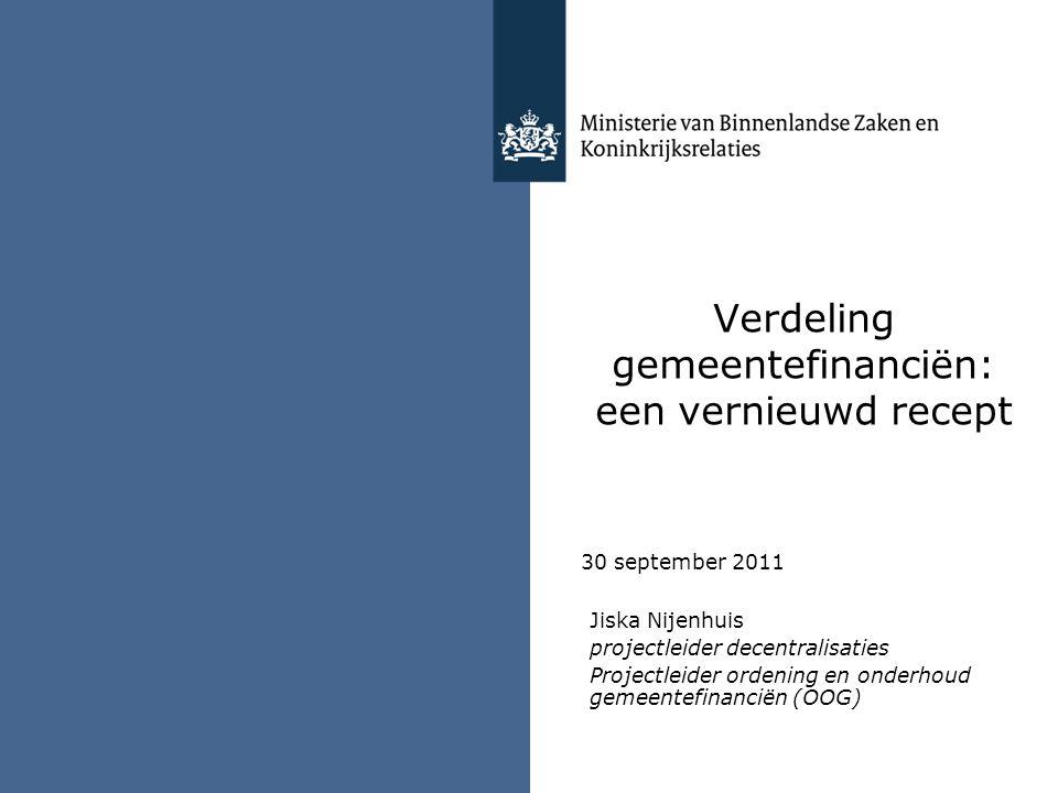 Verdeling gemeentefinanciën: een vernieuwd recept