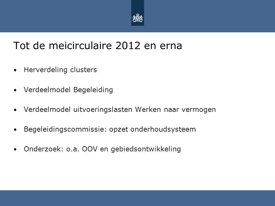 Tot de meicirculaire 2012 en erna