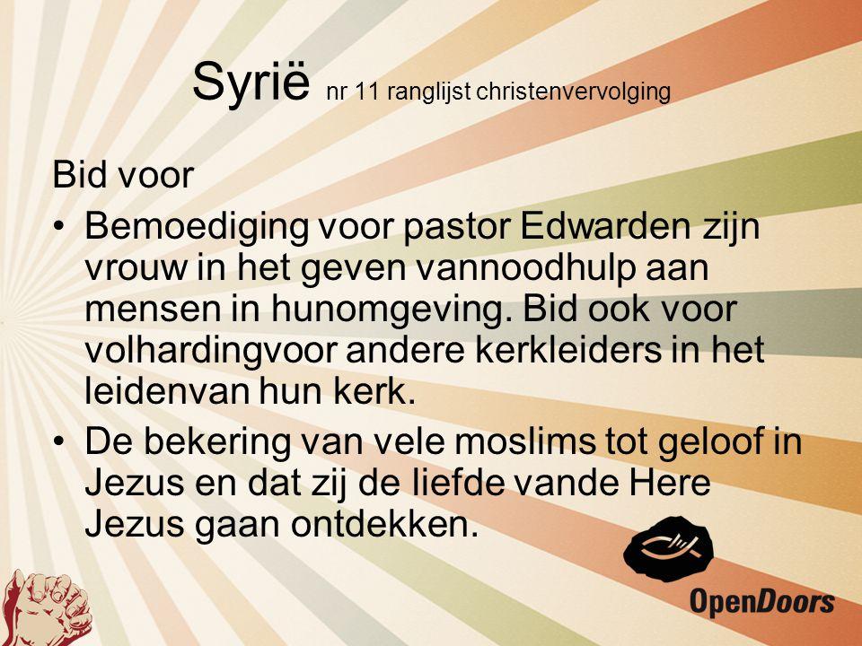 Syrië nr 11 ranglijst christenvervolging