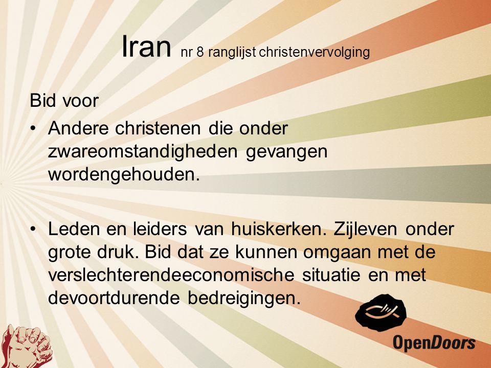 Iran nr 8 ranglijst christenvervolging