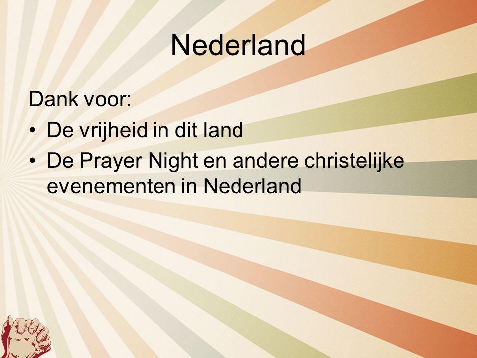 Nederland Dank voor: De vrijheid in dit land