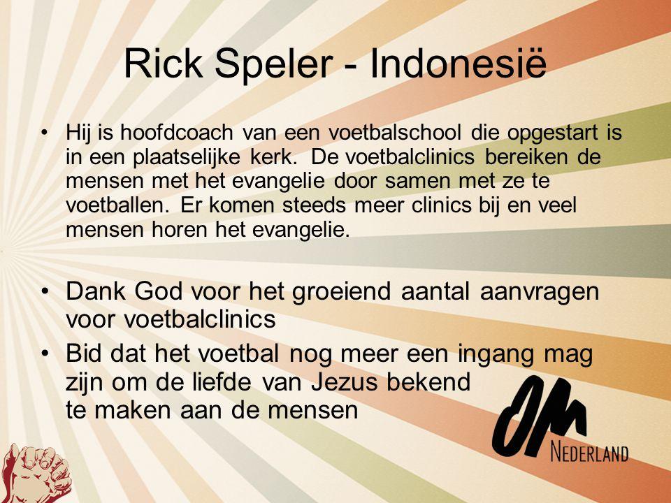 Rick Speler - Indonesië
