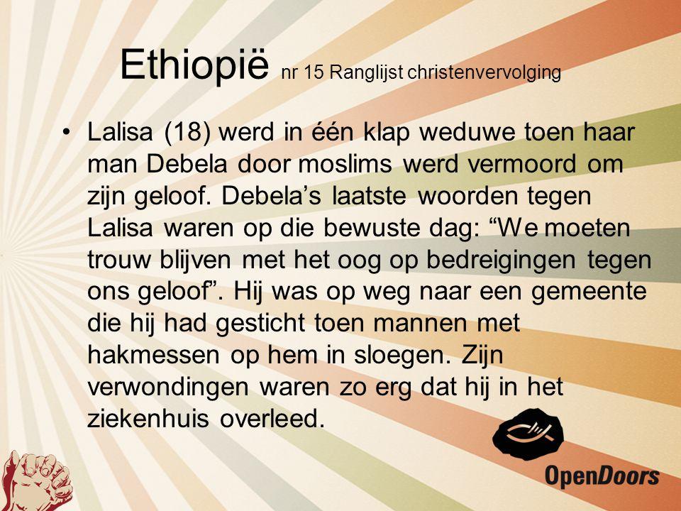 Ethiopië nr 15 Ranglijst christenvervolging