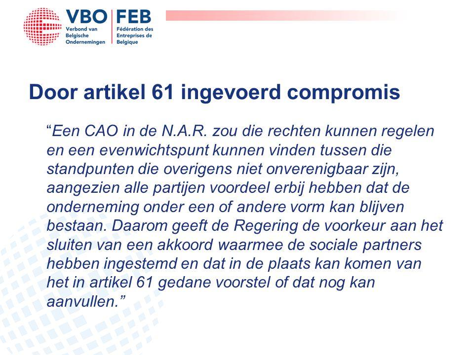 Door artikel 61 ingevoerd compromis