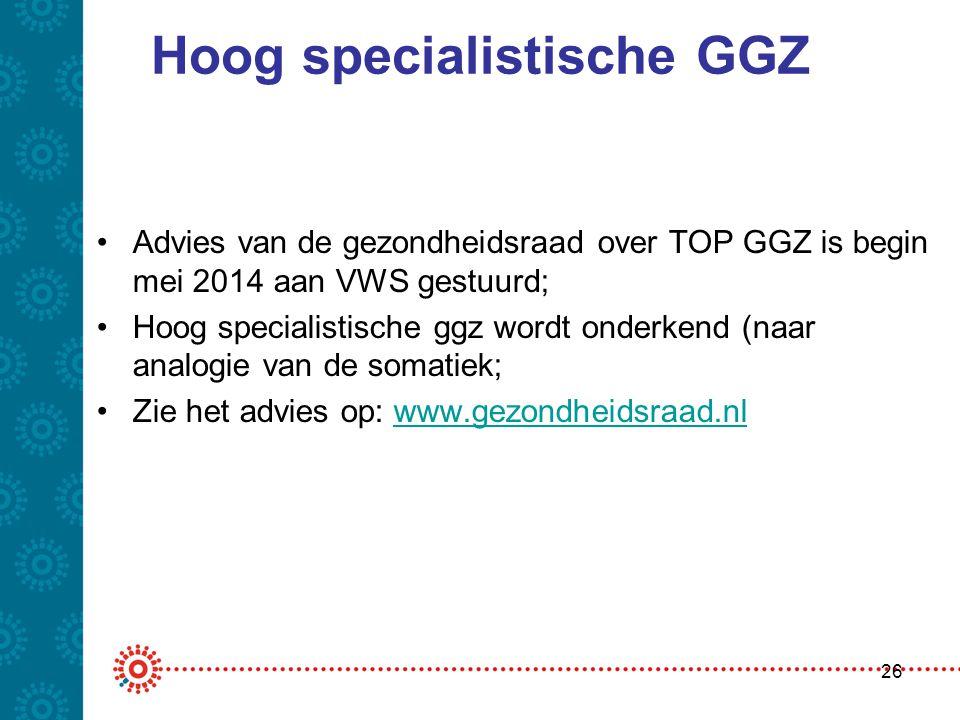 Hoog specialistische GGZ
