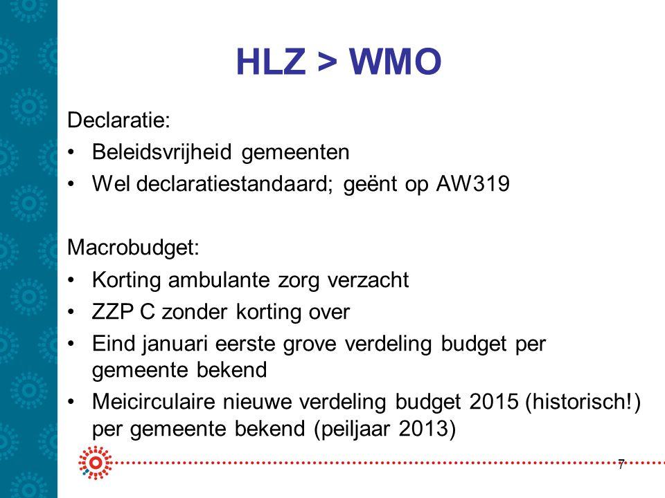 HLZ > WMO Declaratie: Beleidsvrijheid gemeenten