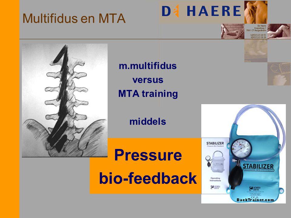 m.multifidus versus MTA training middels Pressure bio-feedback