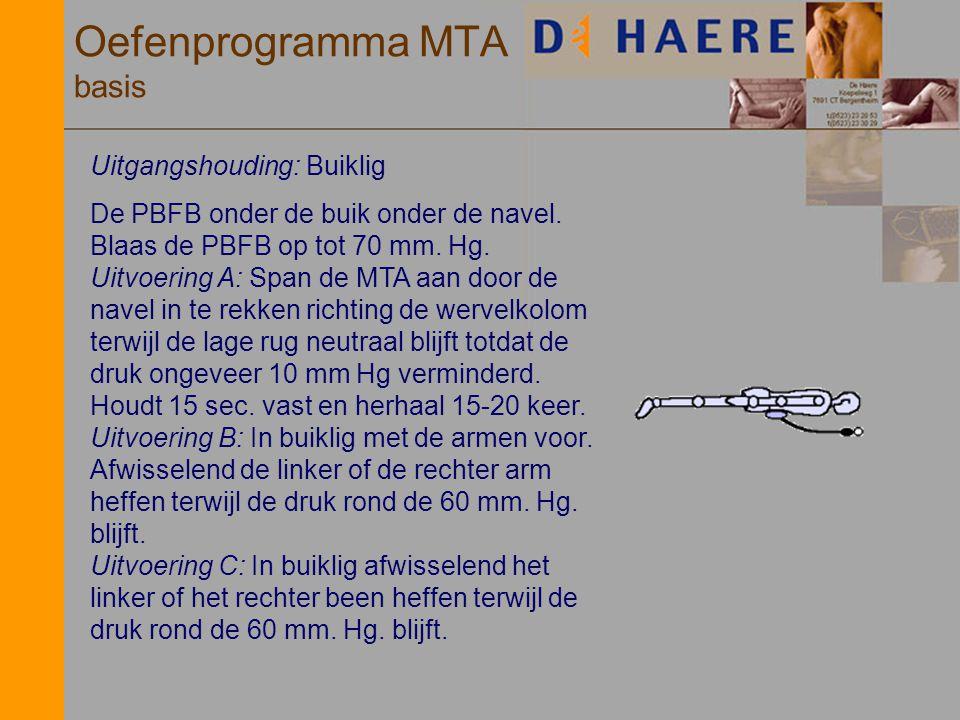 Oefenprogramma MTA basis