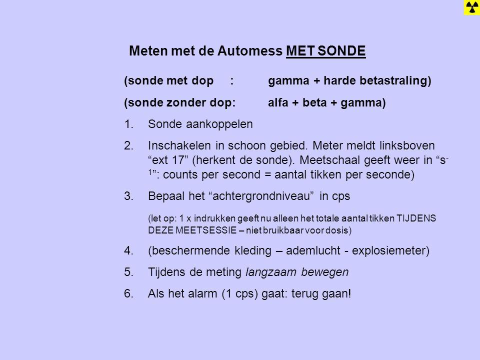 Meten met de Automess MET SONDE