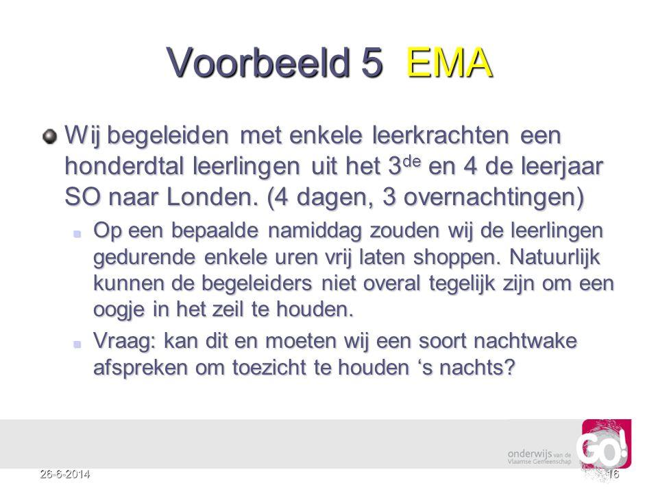 Voorbeeld 5 EMA