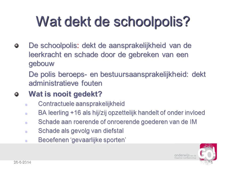 Wat dekt de schoolpolis
