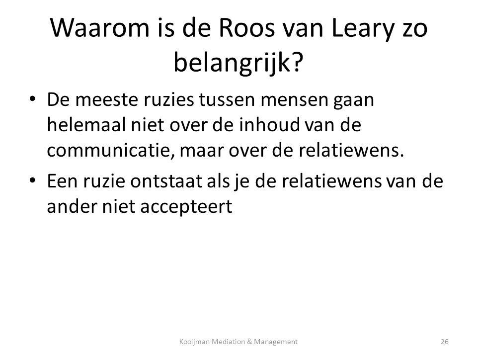 Waarom is de Roos van Leary zo belangrijk