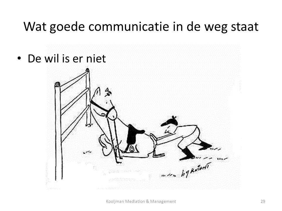 Wat goede communicatie in de weg staat