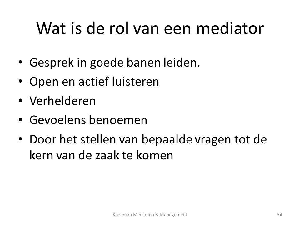 Wat is de rol van een mediator