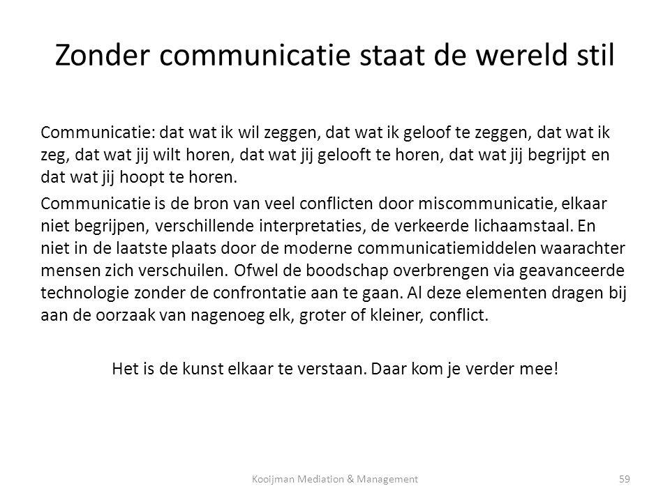 Zonder communicatie staat de wereld stil