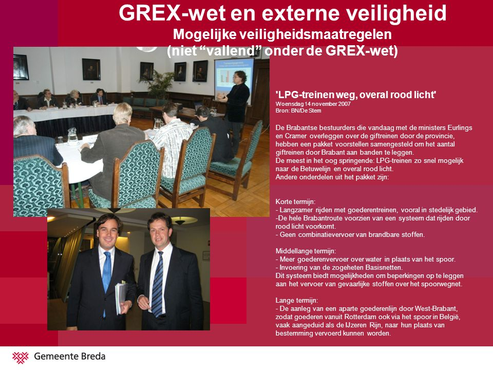 GREX-wet en externe veiligheid