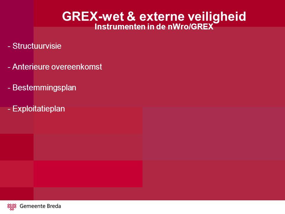 GREX-wet & externe veiligheid Instrumenten in de nWro/GREX