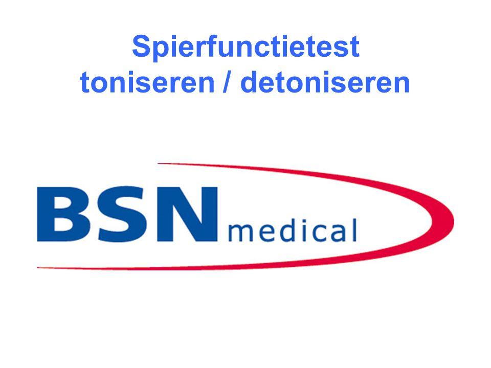 Spierfunctietest toniseren / detoniseren