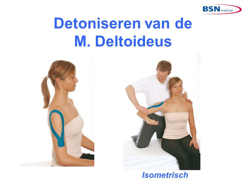 Detoniseren van de M. Deltoideus