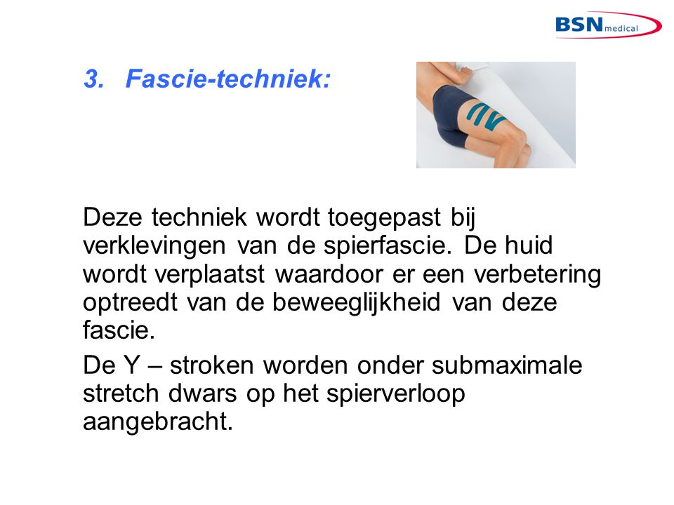 3. Fascie-techniek: