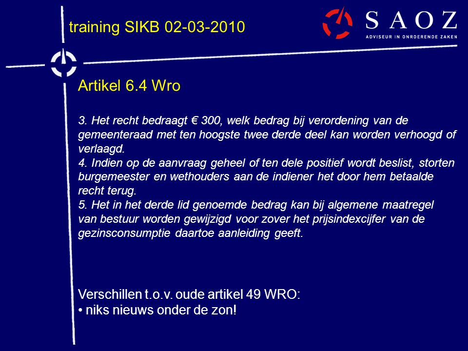 training SIKB 02-03-2010 Artikel 6.4 Wro