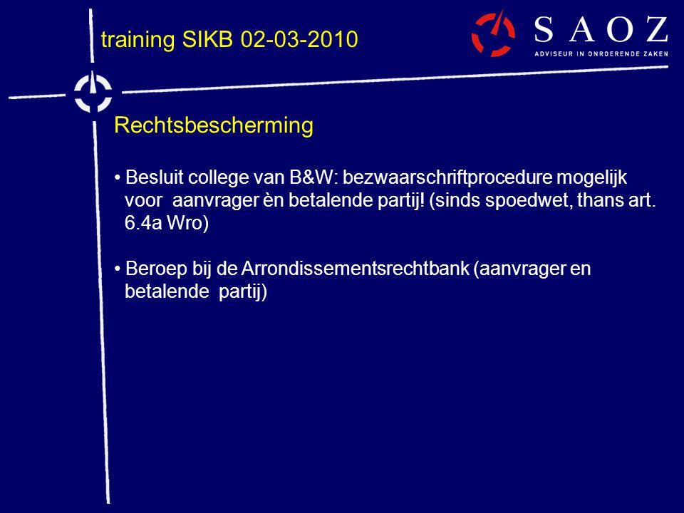 training SIKB 02-03-2010 Rechtsbescherming