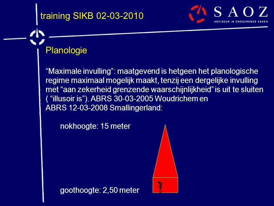 training SIKB 02-03-2010 Planologie