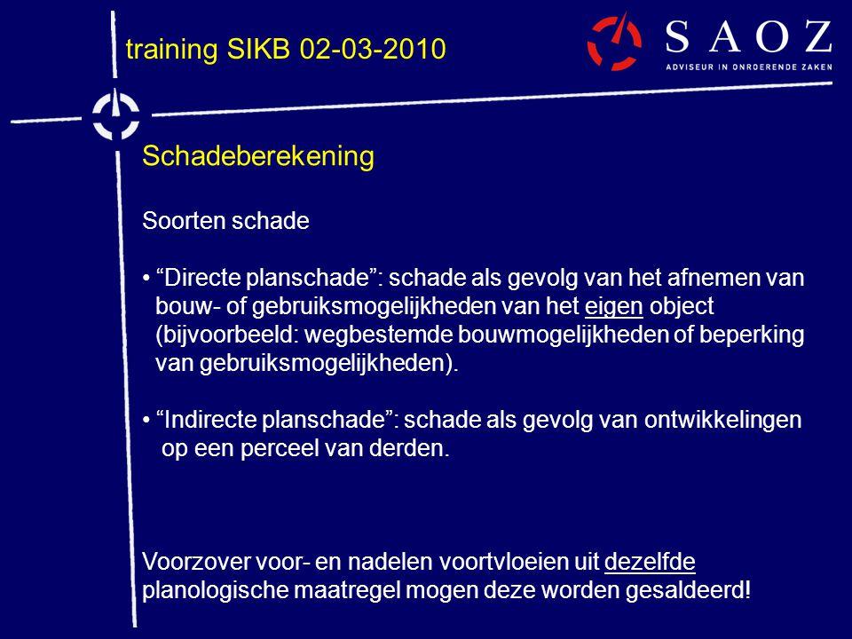 training SIKB 02-03-2010 Schadeberekening Soorten schade