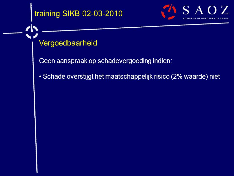 training SIKB 02-03-2010 Vergoedbaarheid