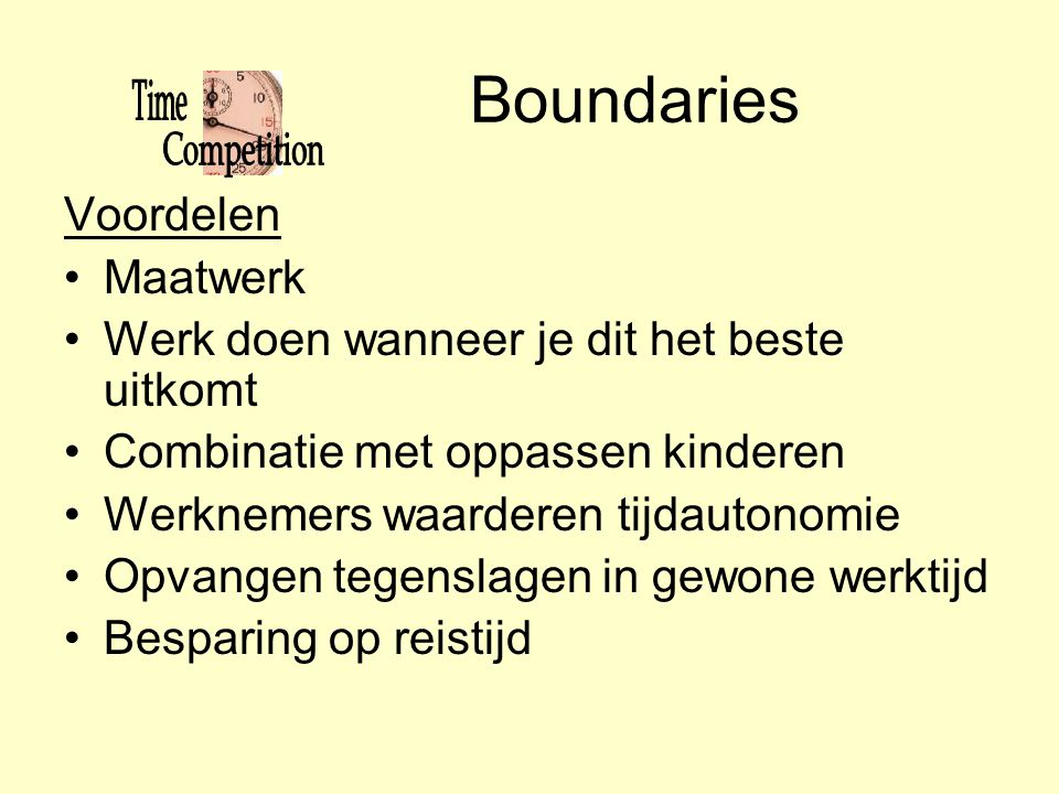 Boundaries Voordelen Maatwerk