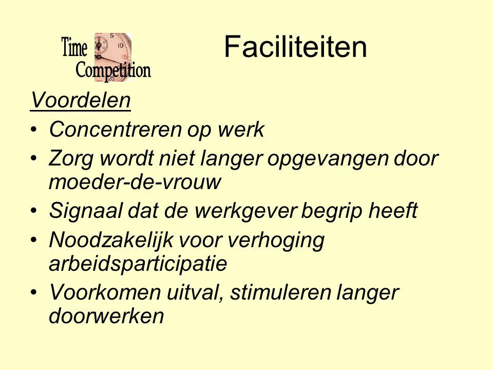 Faciliteiten Voordelen Concentreren op werk