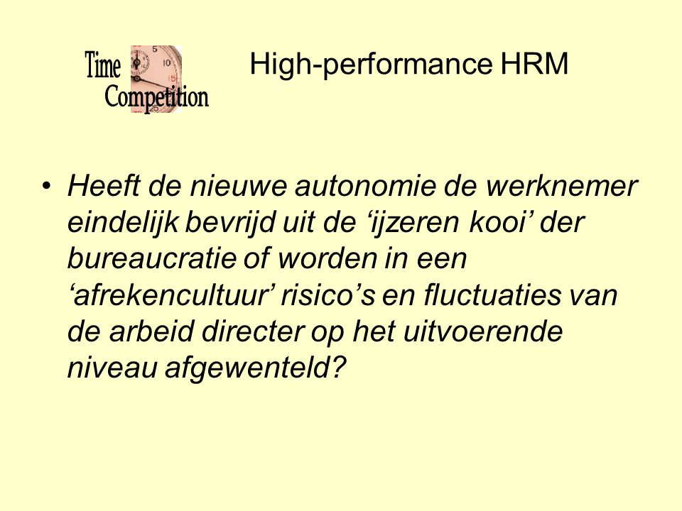 High-performance HRM