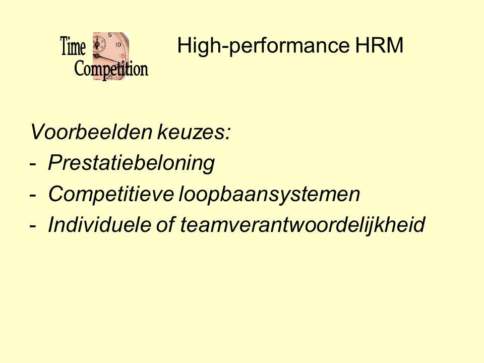 Competitieve loopbaansystemen Individuele of teamverantwoordelijkheid