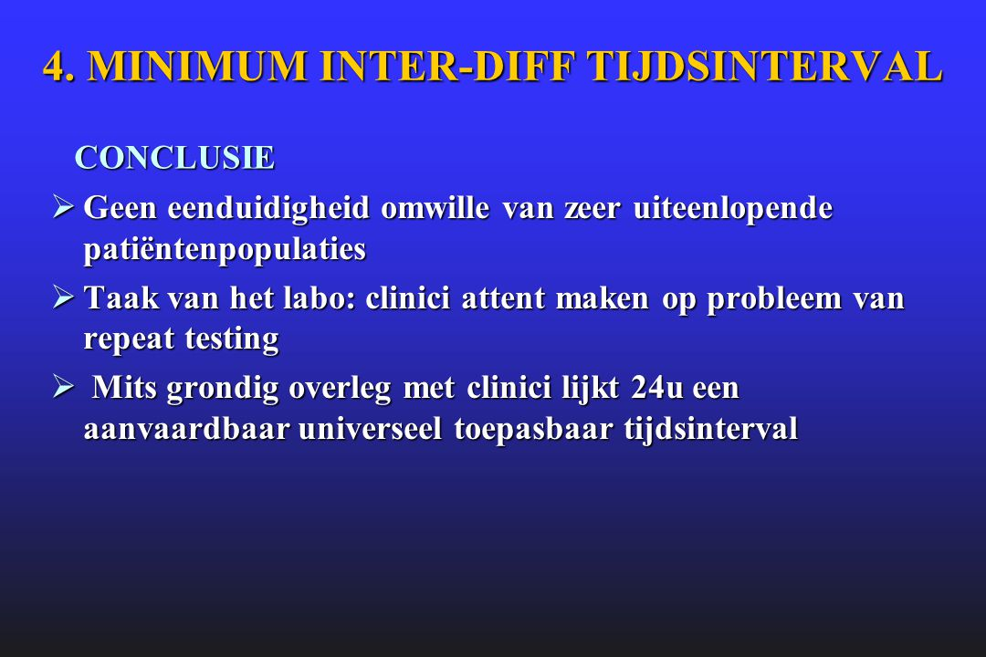 4. MINIMUM INTER-DIFF TIJDSINTERVAL