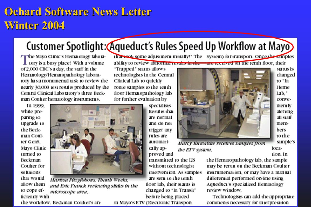 Ochard Software News Letter Winter 2004