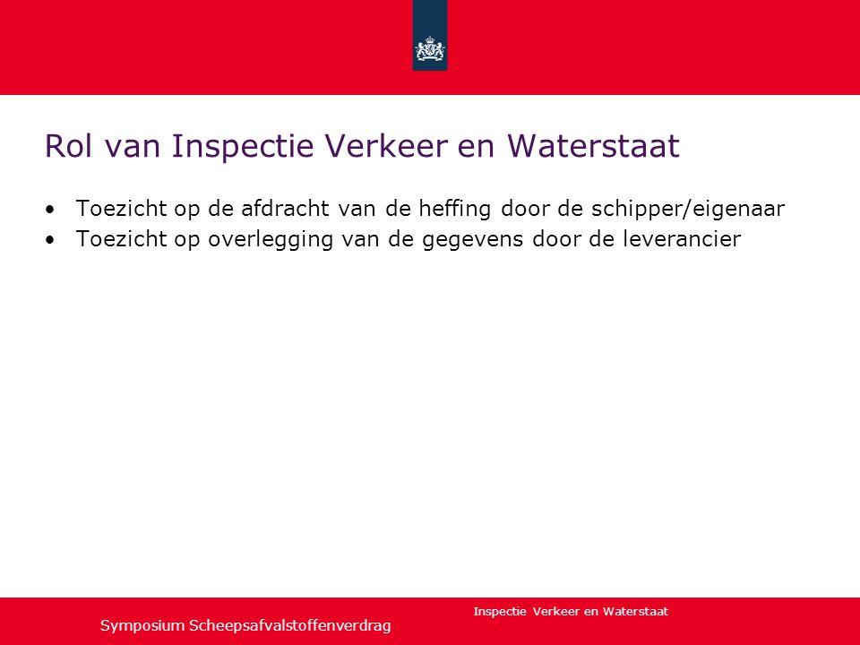 Rol van Inspectie Verkeer en Waterstaat