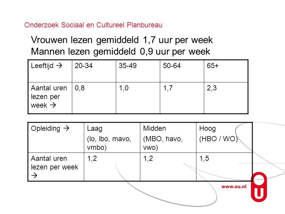 Onderzoek Sociaal en Cultureel Planbureau