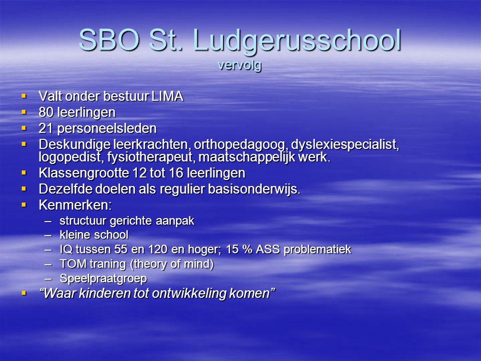 SBO St. Ludgerusschool vervolg