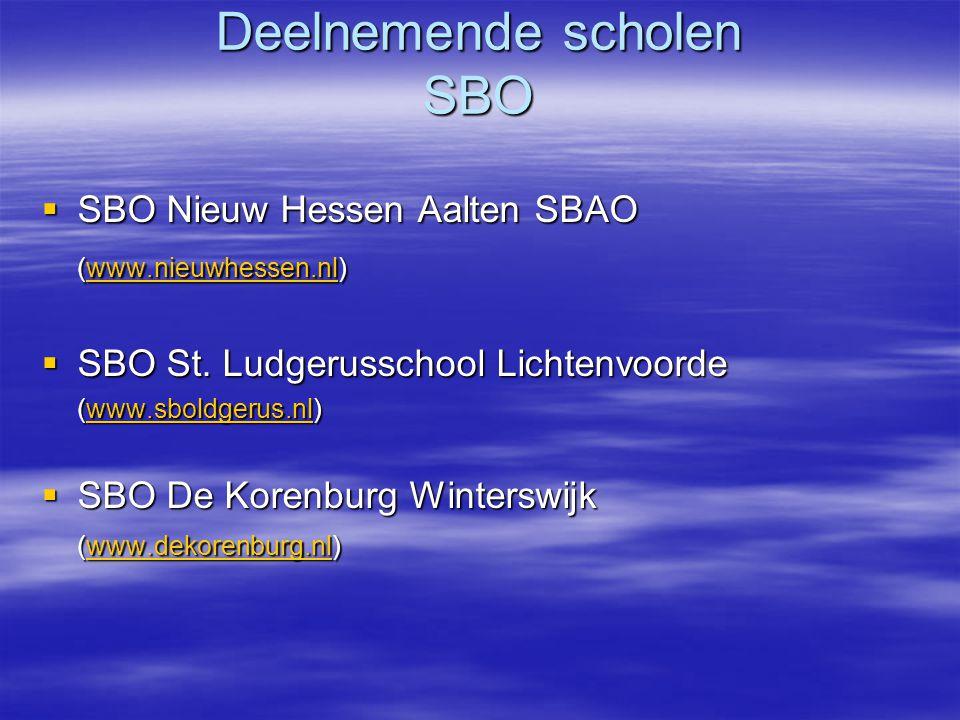 Deelnemende scholen SBO