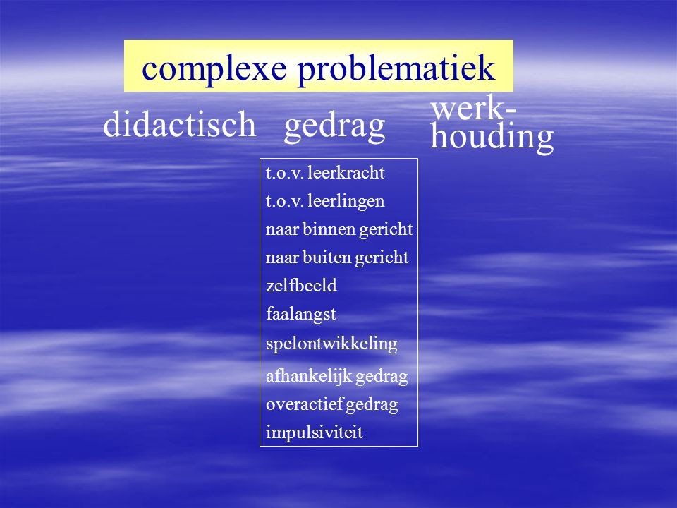 complexe problematiek