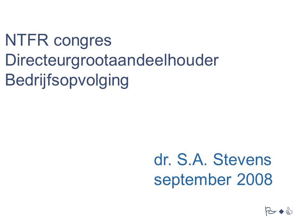 NTFR congres Directeurgrootaandeelhouder Bedrijfsopvolging