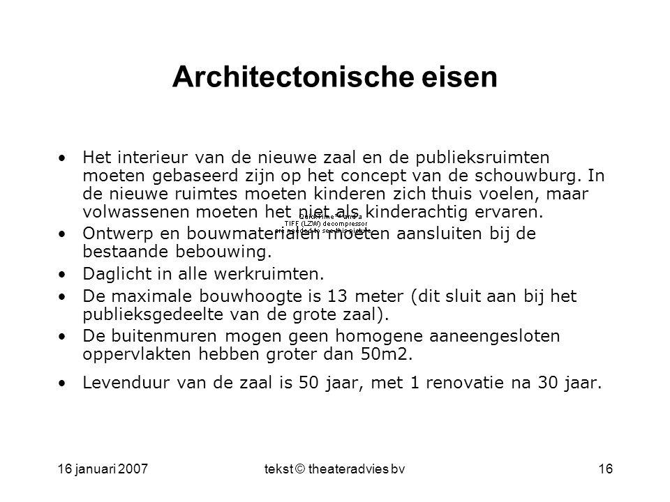 Architectonische eisen