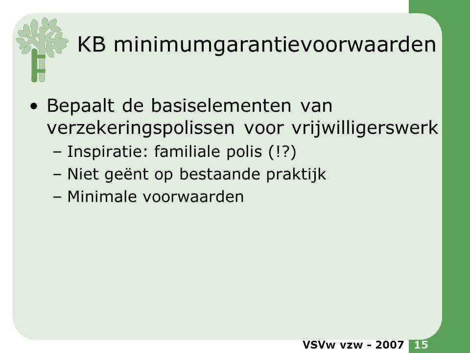 KB minimumgarantievoorwaarden