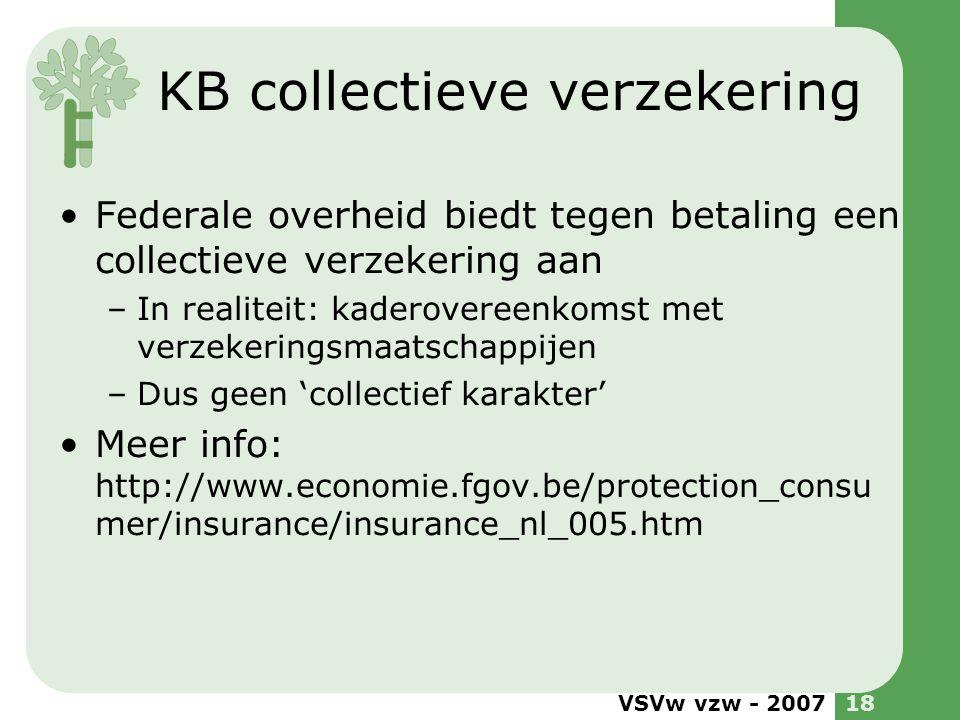 KB collectieve verzekering
