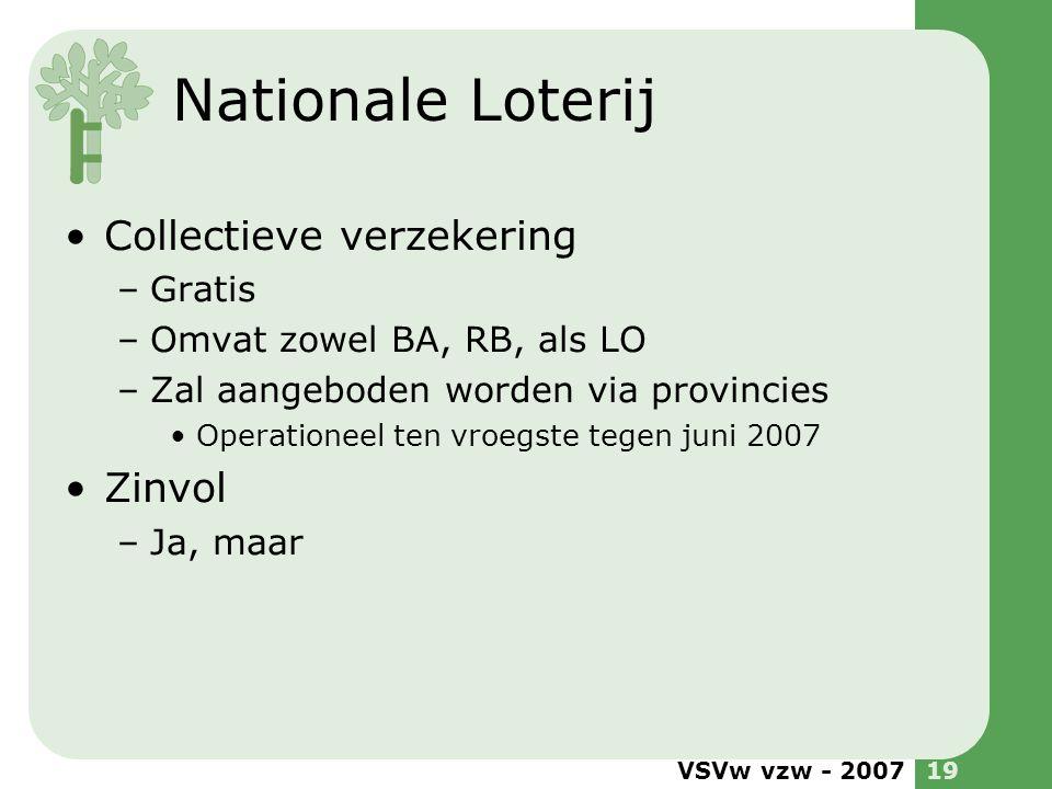 Nationale Loterij Collectieve verzekering Zinvol Gratis