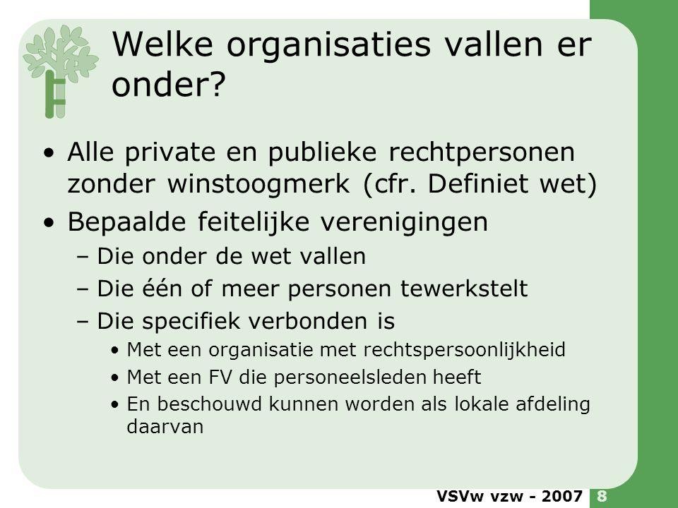 Welke organisaties vallen er onder
