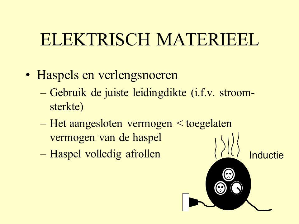 ELEKTRISCH MATERIEEL Haspels en verlengsnoeren