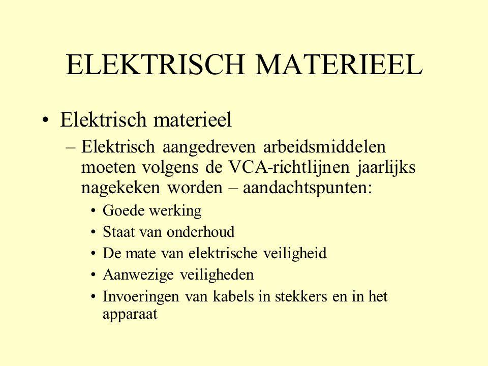 ELEKTRISCH MATERIEEL Elektrisch materieel